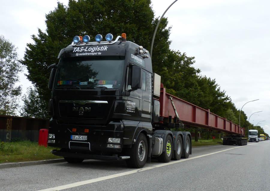 tas logistikdammann transporte man 41540 tgx mit 48 m  ~ Kühlschrank Transport Umlegen