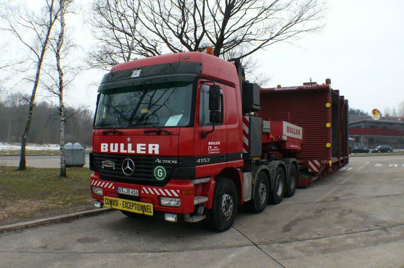 Buller, Transport eines Kesselbauteiles - Hansebube.de